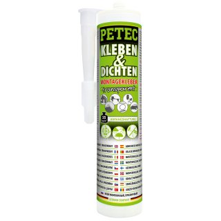 Petec 94929 Kleben & Dichten Transparent 290ml
